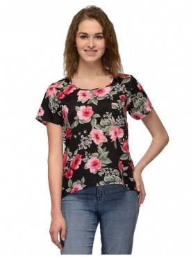 Abarass Creations 100% Polyester(Poly Crepe) Top Multi