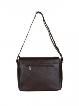 American-Elm Brown Solid Leather Sling Bag