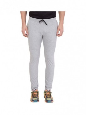 American-Elm Men Grey Solid Trackpant