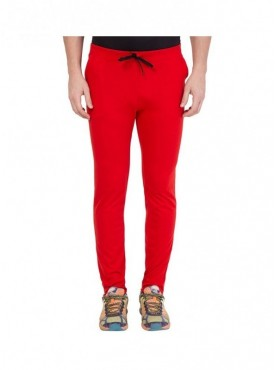 American-Elm Men Basic Red Trackpant