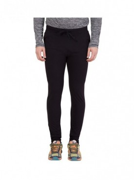 American-Elm Black Basic Track Jogger for Men