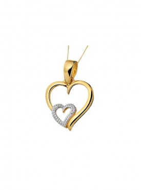 Heart Shape Pendant (Without Chain)