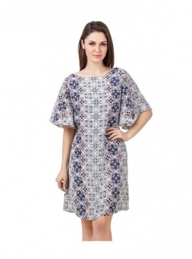 American-Elm Multi Coloured Cap Sleeve Women Tunic