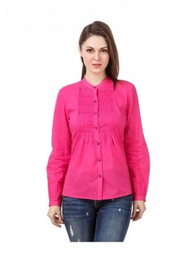 American-Elm Pink Coloured Full Sleeve Women Tunic