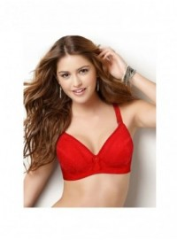 Shyle Red Lace Designed Soft Padded Bra