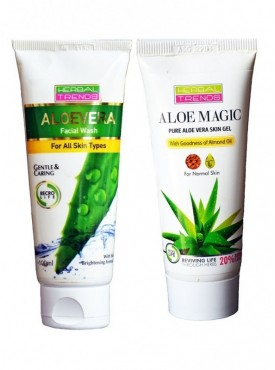 Pure Aloe Vera Skin Gel & face wash Normal Skin Combo