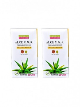 Pure Aloe Vera Skin Gel with Almond Oil Pack of 2