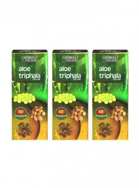 Herbal Trends- Aloe Triphala Plus Pure 1Ltr. Pack Of 3