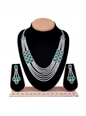 American Diamond jewelry Dress Up Her Ethnic Necklace For Women