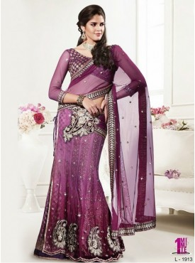 Mahotsav Pink Color Lehenga Saree