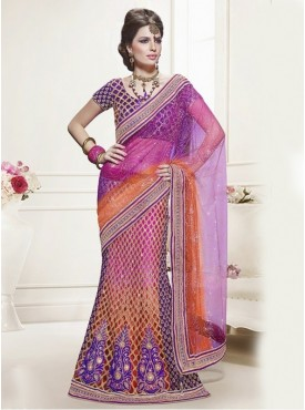 Mahotsav Multi Color Color Lehenga Saree