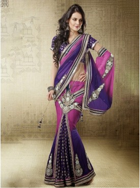 Mahotsav rani Color Lehenga Saree