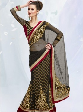 Mahotsav black Color Lehenga Saree