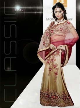 Mahotsav Coffie Shaded Red Color Lehenga Saree