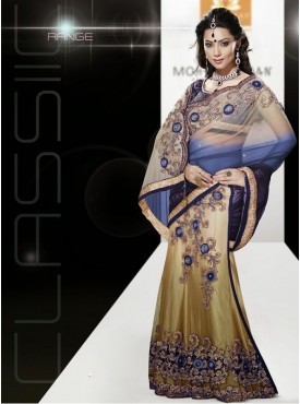 Mahotsav blue Color Lehenga Saree