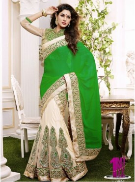 Mahotsav green light Beige Color Lehenga Saree