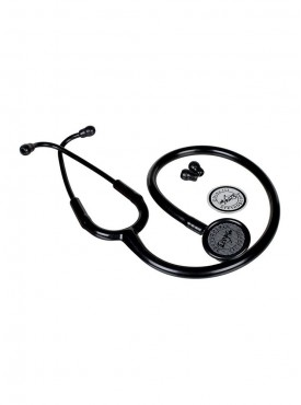 Adult Stainless Steel Stethoscope - Matte Black Edition