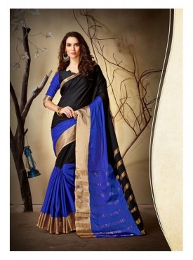 Nilakshi Designer Heavy Cotton Silk Olive Green Color Jacquard Saree With Blouse