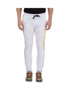American-Elm Men White Stylish Cotton Printed Lower