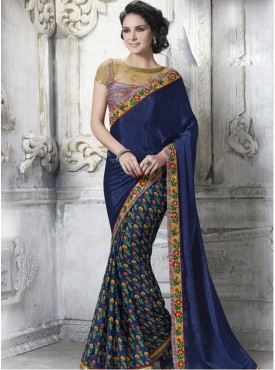 Mahotsav Blue Color Saree