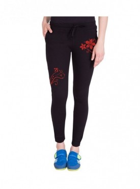 American-Elm Both Front Side Flower Printed Trackpant for Women