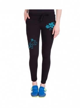 American-Elm Both Front Side Flower Printed Track Jogger for Women