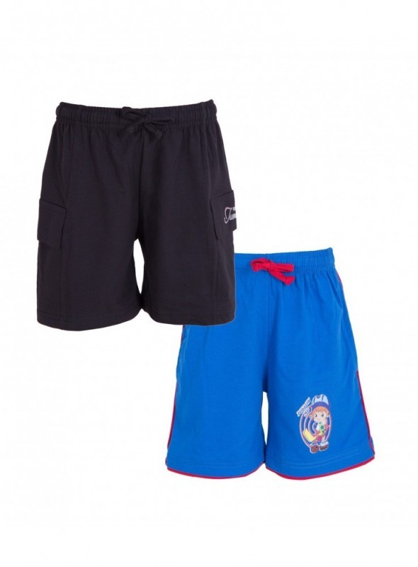 Utlrafti Junior Boys Pack of 2 Cotton Cool Shorts