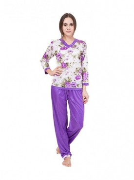 American-Elm Women Multi Coloured Night Suit