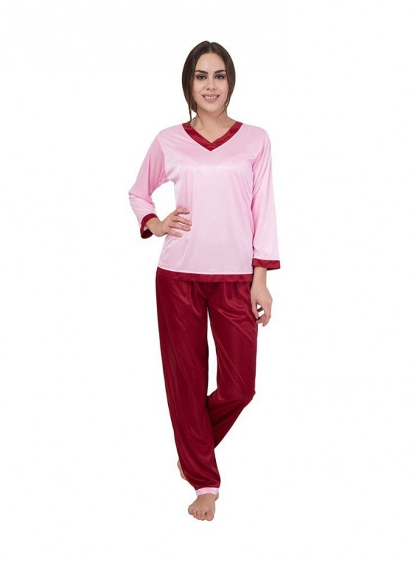 American-Elm Multi Coloured Night Suit for Women