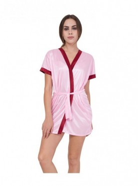 American-Elm Women Pink Baby Doll Night Gown