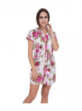 American-Elm Women Floral Printes Night Gown