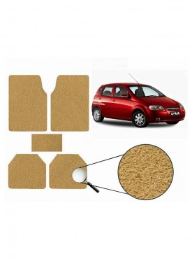 True Vision Car Anti Slip Noodle Floor / Foot Mats Set of 5 Beige For Chevrolet Aveo UVA