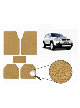 True Vision Car Anti Slip Noodle Floor / Foot Mats Set of 5 Beige For Chevrolet Captiva Type 1  - 2008-2013