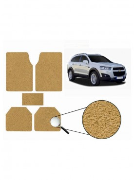 True Vision Car Anti Slip Noodle Floor / Foot Mats Set of 5 Beige For Chevrolet Captiva Type 2  - 2013-2015