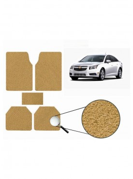 True Vision Car Anti Slip Noodle Floor / Foot Mats Set of 5 Beige For Chevrolet Cruze Type 1  - 2009-2014