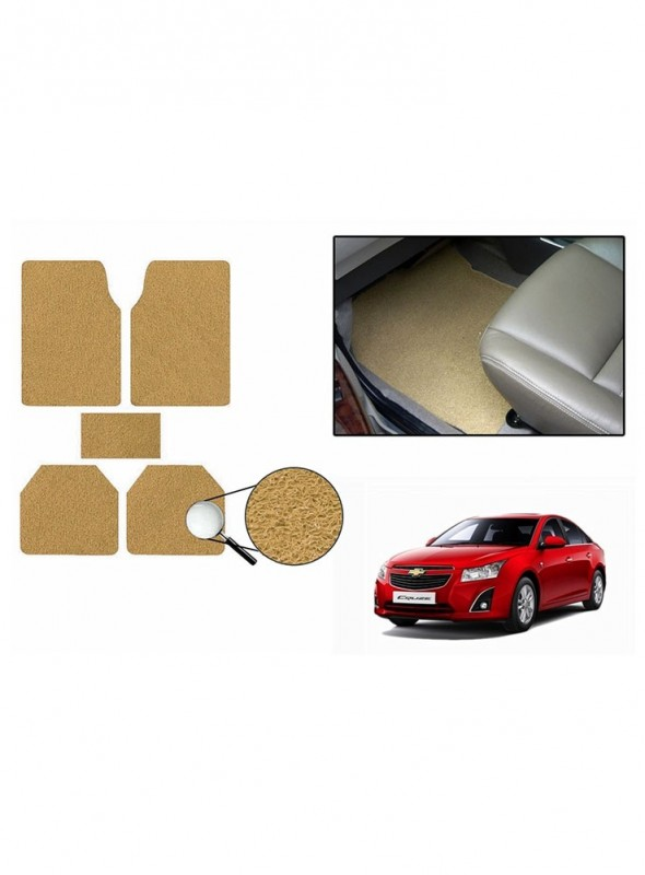 True Vision Car Anti Slip Noodle Floor / Foot Mats Set of 5 Beige For Chevrolet Cruze Type 2  - 2014-2015