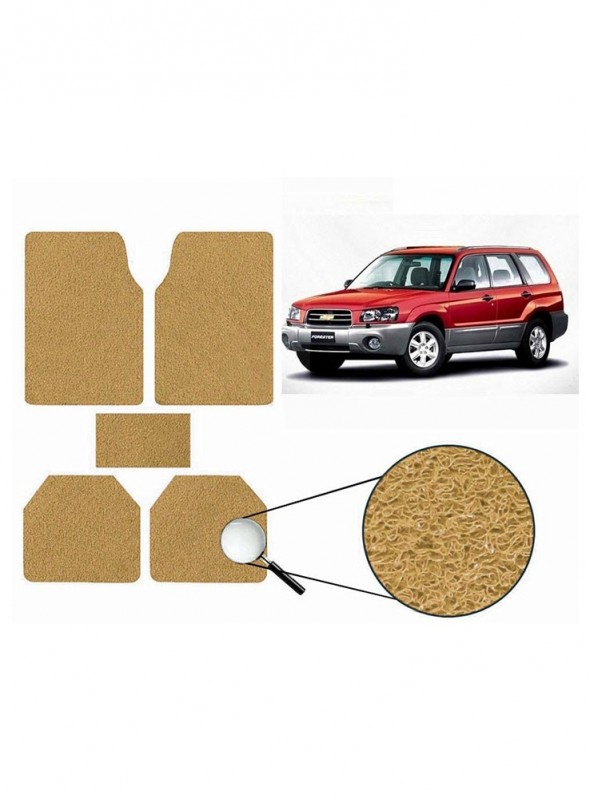 True Vision Car Anti Slip Noodle Floor / Foot Mats Set of 5 Beige For Chevrolet Forester
