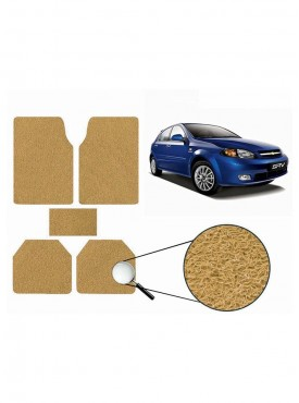 True Vision Car Anti Slip Noodle Floor / Foot Mats Set of 5 Beige For Chevrolet Optra SRV