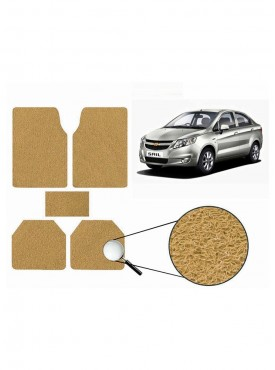 True Vision Car Anti Slip Noodle Floor / Foot Mats Set of 5 Beige For Chevrolet Sail