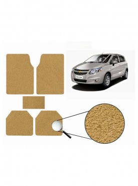 True Vision Car Anti Slip Noodle Floor / Foot Mats Set of 5 Beige For Chevrolet Sail UVA