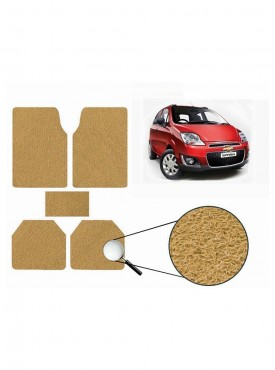 True Vision Car Anti Slip Noodle Floor / Foot Mats Set of 5 Beige For Chevrolet Spark Type 2  - 2013-2015