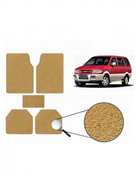 True Vision Car Anti Slip Noodle Floor / Foot Mats Set of 5 Beige For Chevrolet Tavera