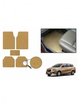 True Vision Car Anti Slip Noodle Floor / Foot Mats Set of 5 Beige For Datsun Go+