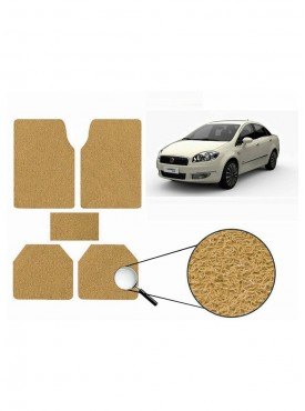 True Vision Car Anti Slip Noodle Floor / Foot Mats Set of 5 Beige For Fiat Linea
