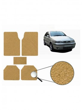 True Vision Car Anti Slip Noodle Floor / Foot Mats Set of 5 Beige For Fiat Palio