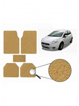 True Vision Car Anti Slip Noodle Floor / Foot Mats Set of 5 Beige For Fiat Punto