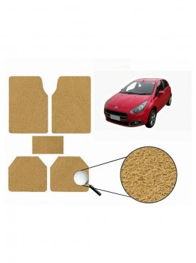 True Vision Car Anti Slip Noodle Floor / Foot Mats Set of 5 Beige For Fiat Punto Evo