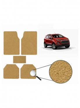 True Vision Car Anti Slip Noodle Floor / Foot Mats Set of 5 Beige For Ford Ecosport