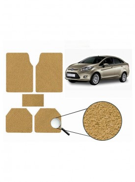 True Vision Car Anti Slip Noodle Floor / Foot Mats Set of 5 Beige For Ford Fiesta