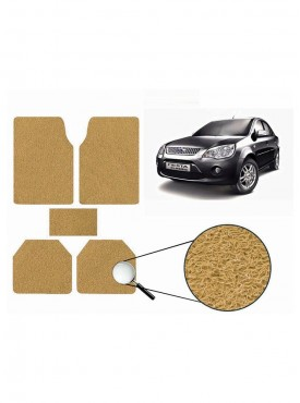 True Vision Car Anti Slip Noodle Floor / Foot Mats Set of 5 Beige For Ford Fiesta classic